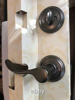 1 Baldwin Single Cylinder Entry Handle Set with Smart Key Slate Finish NEW