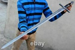 1 Of A Kind Hand Made Damascus Steel Hunting Dagger Sword Handle Resin & Pommel