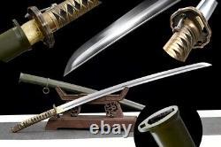 98 Type Military Sword Japan Samurai Katana Brass Handle Sharp 1095 Carbon Steel