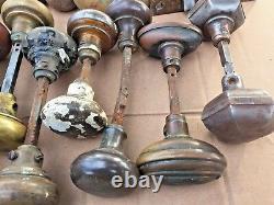 ANTIQUE DOOR KNOBS Mixed Lot 33+ METAL Brass Bronze Steel Handles