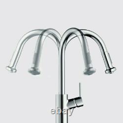 AXOR Citterio Luxury 1-Handle 15-inch Tall Kitchen Faucet, Steel Optic, 39836801