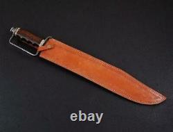 Ak Knives Fancy Handmade Damascus Sword Handle Damascus Clip, Brass, Wood
