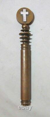 Antique 1700's sterling brass Renaissance Knights Templar dagger sword handle
