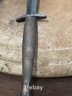 Antique 1900's WWII WWI Military Trench Knife Dagger Brass Handle Vintage Rare