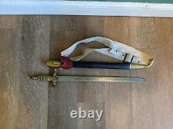 Antique Ceremonial Odd Fellows IOOF Sword Brass Handle