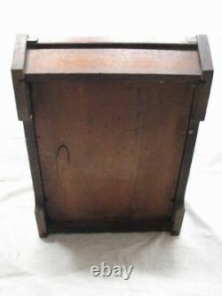 Antique Coal Scuttle Wooden Box withSteel Liner/Brass Handle Estate Stove Tool