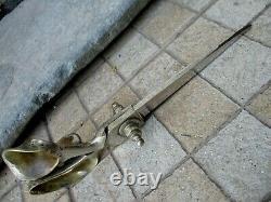 Antique Huge 12 Tailor Scissors Robust Tool Steel Handle Brass Mark Humberto