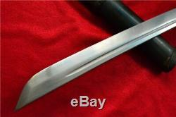 Antique Japanese Sword Samurai Katana Sharpen Steel With Sheath & Brass Handle