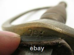 Antique Original Civil War Musician Sword Ceremonial Sabre Brass Handle 78