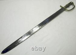 Antique P1837 Nepal Brunswick Brass Handle Sword Bayonet NO Scabbard 68.5cm/26