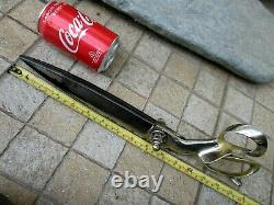 Antique Rare Giant Enormous 15 Tailor Scissors Robust Tool Steel Handle Brass