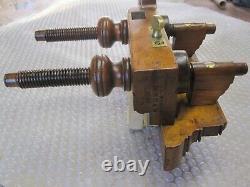 Antique Vintage Hardwood Brass & Steel Wood Handle Arm Plow Woodworking Plane