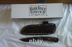 Bark River Fox River CPM 154 SS Steel Fancy American Walnut Brass Pins handle