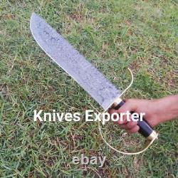 Blacksmith New Custom Handmade Damascus Steel Hunting Bowie Knife Resin Handle