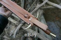 Blacksmith New Custom Made Damascus Steel Viking Medieval Sword Wooden Handle