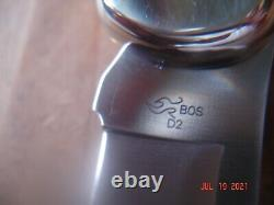 Buck Knife 111 Hunter Brass Nickel Silver Sides Bos D2 Blade Wood Handles 110