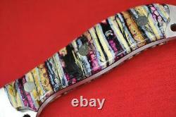 Busse Custom Nuclear Sus Scrofa. 17 Satin INFI Blade, Full Fossil Tooth Handle
