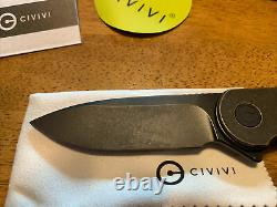 CIVIVI Elementum C907H Black stonewashed blade & BRASS handle Blade HQ Knife