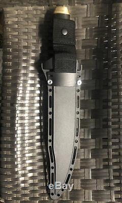 COLD STEEL 01 Tool Steel Blade/ BRASS/ Black MICARTA Handle NATCHEZ Bowie! NEW