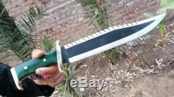 Carbon Steel Custom Handmade 17Bowie With Rambo Style Handle=IM7