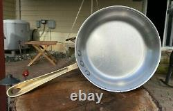 Cop R Chef Vintage Copper Skillet with Stainless Steel Interior And Brass Handle