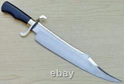 Custom Handmade Spring Steel (5160) 20 Alamo Musso Bowie Knife Micarta Handle