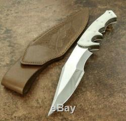 Custom Made Real D2 Steel Knife Full Tang Bowie With Brass Handle & Sheet
