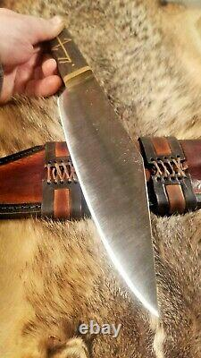 Custom Viking Seax Knife 8.5 BLADE Bog Oak Handle Blacksmith FIF