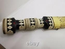Damascus Vintage Rare Handmade Sword Dagger knife, Brass Sheath, Wooden Handle