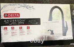 Delta Anderson 19998Z-BLSD-DST Matte Black 1-Handle Kitchen Faucet