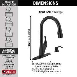 Delta Anderson Matte Black 1-Handle Pull-Down Kitchen Faucet 19998Z-BLSD-DST NEW
