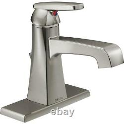 Delta Ashlyn Single-Handle Bathroom Faucet Metal Drain Assembly in Stainless