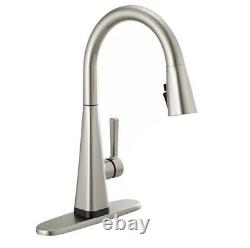 Delta Lenta Touch Single-Handle Pull-Down Sprayer Kitchen Faucet With Shield Spray