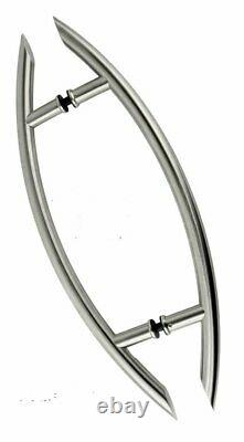 Entrance Entry Door Pull Curved Long Handle stainless steel Satin & Matte Black