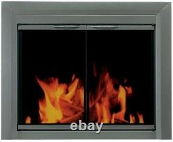 Fireplace Doors Small Tinted Glass Surface-Mount Design with Easy-Grip Handles