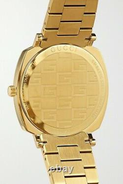 Gucci Grip 38mm Gold PVD-plated stainless steel watch Made in Italy