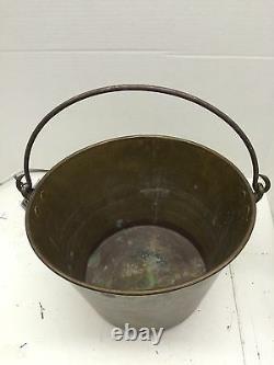 H W Haydens Brass Bucket Steel Handle Pat Dec. 15 1851primitive Piece