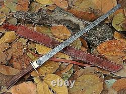 HUNTEX Custom Handmade Damascus Blade, Rosewood Handle 760 mm Long Katana Sword