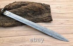 Handmade Damascus Steel Gladius Sword Handmade With Rosewood Handle