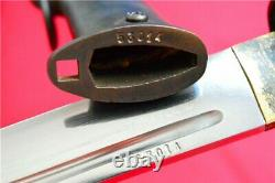 Handmade Military Japanese NCO Sword Saber Samurai Katana Steel Brass Handle