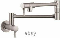 Hansgrohe 04218800 Talis C 8 Tall Double handle Pot Filler STEEL OPTIC