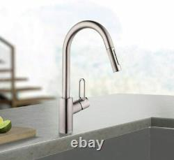 Hansgrohe 04701805 Talis Loop 1-Handle Tall Kitchen Faucet in Stainless Steel