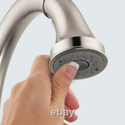 Hansgrohe Talis C Premium 1-Handle Stainless Steel Kitchen Faucet with Pull D