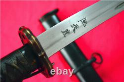 Japan Japanese NCO Sword Samurai Katana Brass Handle Steel Sheath F608