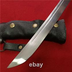 Japanese NCO Saber Sword Samurai Katana Brass Handle Leather Steel Scabbard F824
