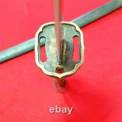 Japanese NCO Sword Samurai Katana Brass Handle Matching Number Steel Sheath F895