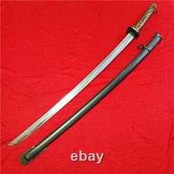 Japanese NCO Sword Samurai Katana Matching Number Brass Handle Steel Sheath S11