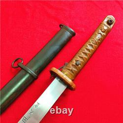 Japanese Nco Sword Samurai Katana Brass Handle Signed Blade Steel Scabbard A49