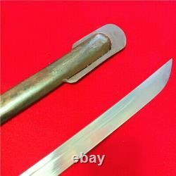 Japanese Nco Sword Samurai Katana Brass Handle Steel Sheath Japan S61