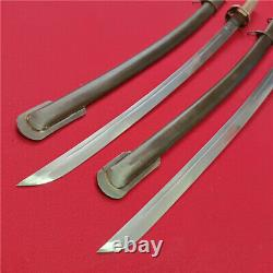 Japanese Nco Sword Samurai Katana Signed Blade Brass Handle Steel Scabbard F821